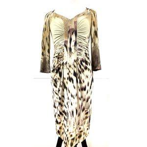 Roberto Cavalli IT42 Medium Dress Leopard Bodycon